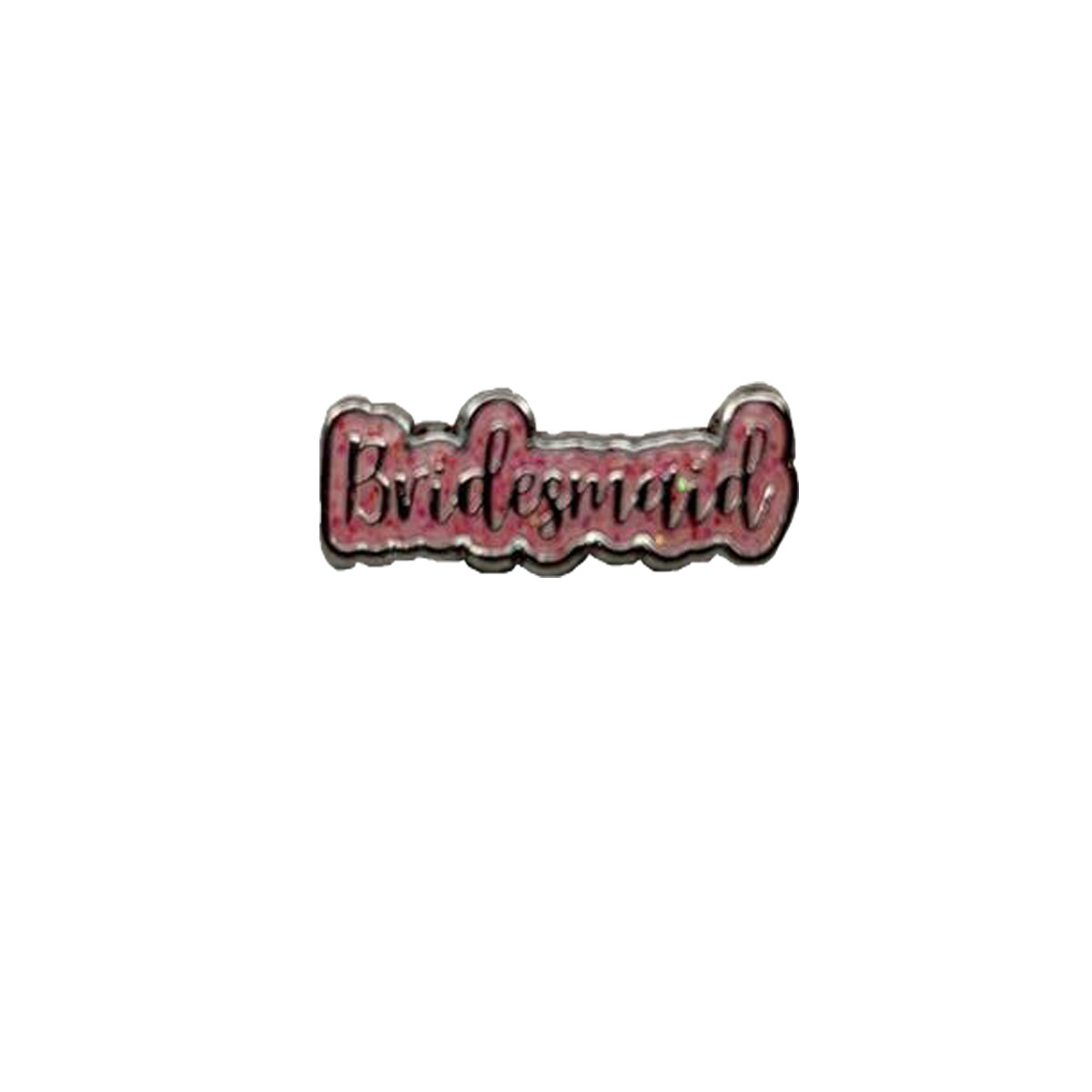 Bridesmaid Pink Glitter Charm
