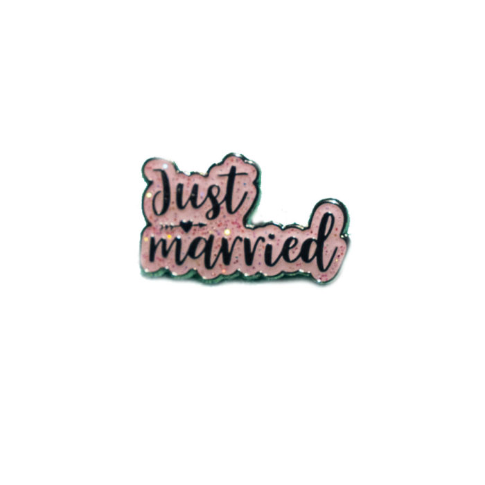 Just Married Pink Wedding Charm