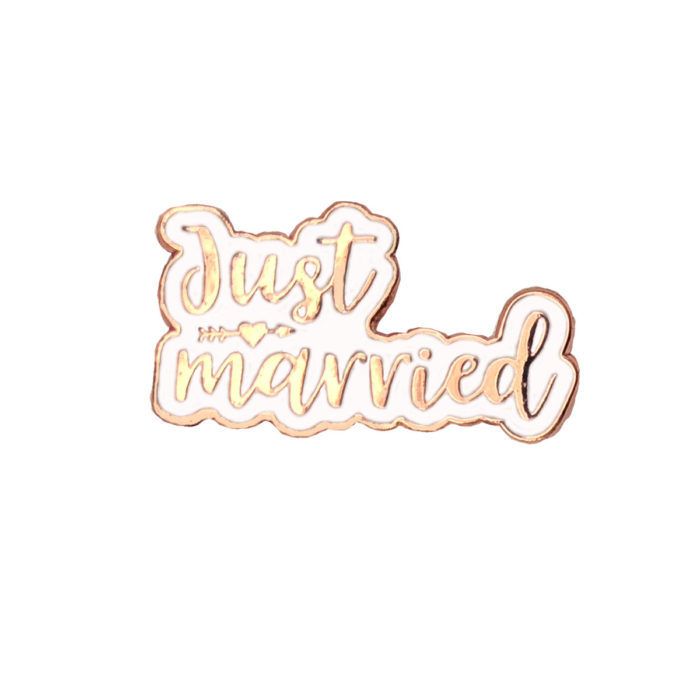 Just Married Rose Gold Wedding Charm