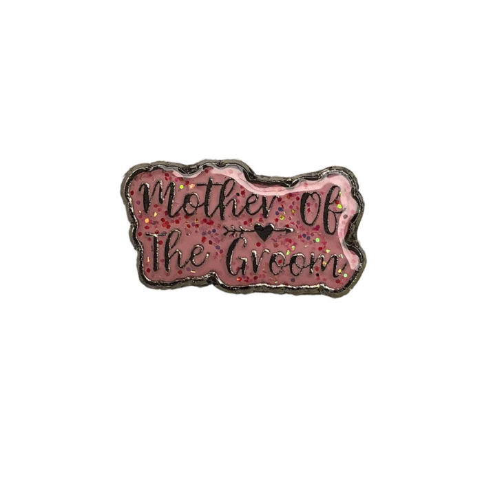 Pink Glitter Mother of the Groom Wedding Charm