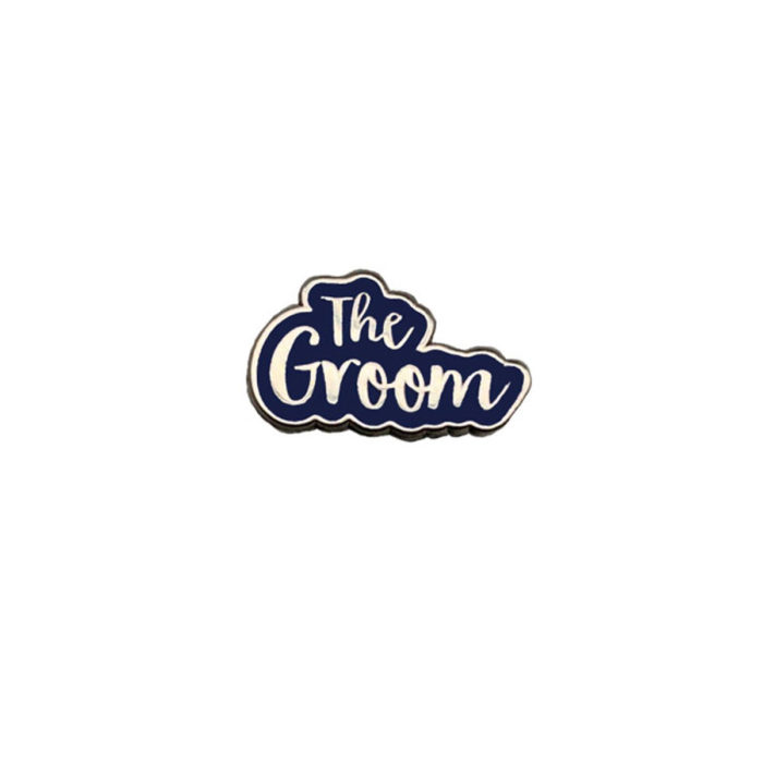 The Groom Silver & Navy Wedding Charm