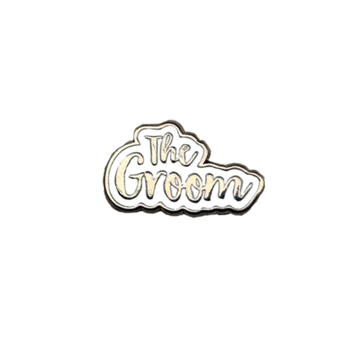 The Groom Silver & White Charm Wedding