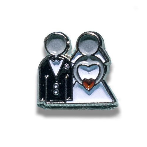 Bride & Groom Wedding Charm