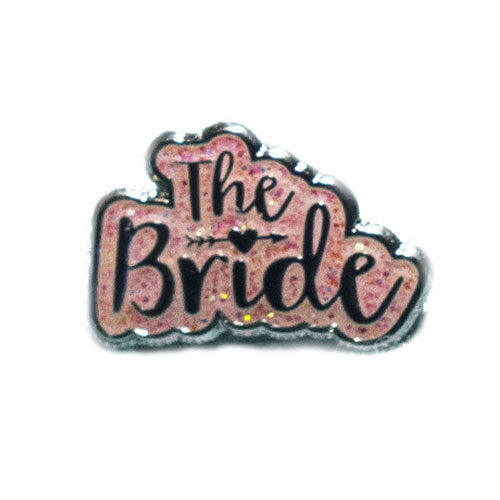 I Do Fancy White Flip-Flops with Pink Glitter The Bride Charm Wedding
