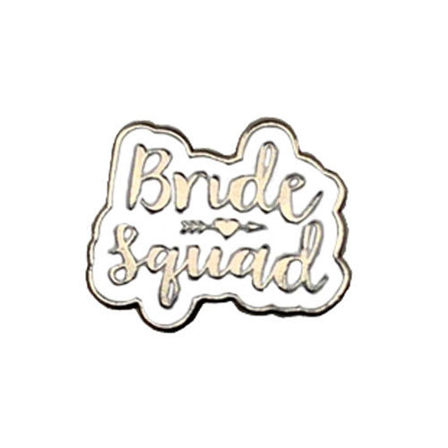 I Do Fancy White Flip-Flops with Silver Bride Squad Charm Wedding