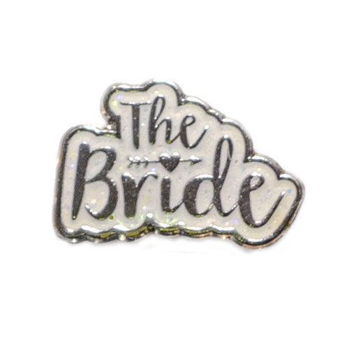 White Glitter Bride Charm