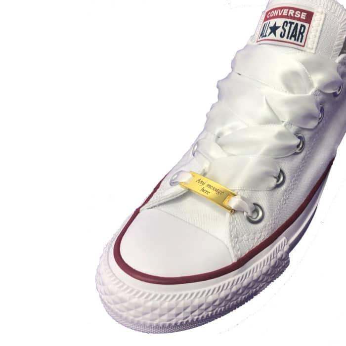 Shoelace Charm Engraved Gift Idea