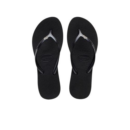 Havaianas Heel Black Flip-Flops with 'The Bride' Charm Wedding