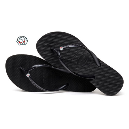 Havaianas Heel Black Flip-Flops with Hen Do Wedding Personalised