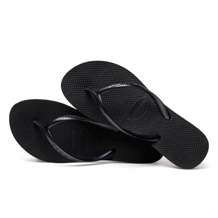 Havaianas High Heeled Black Flip-Flops Sandals Gift