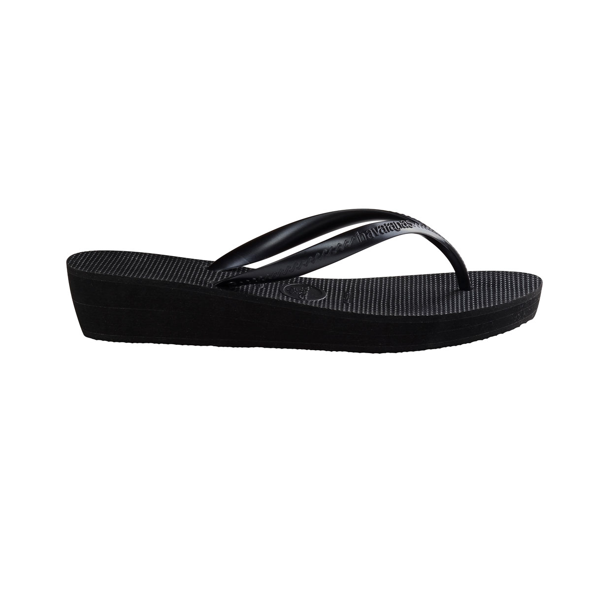 Havaianas Heel Black Wedding Flip Flops