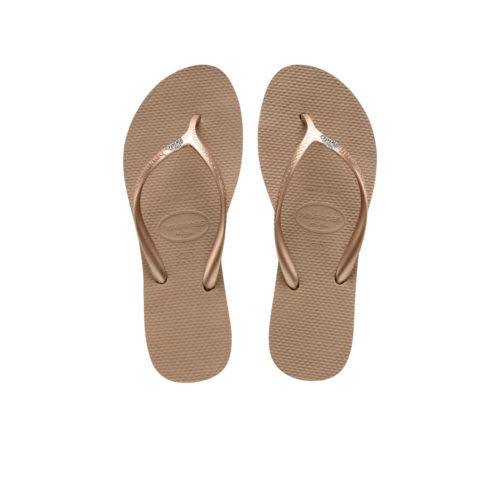 Havaianas Heel Rose Gold Flip-Flops with 'The Bride' Charm Wedding