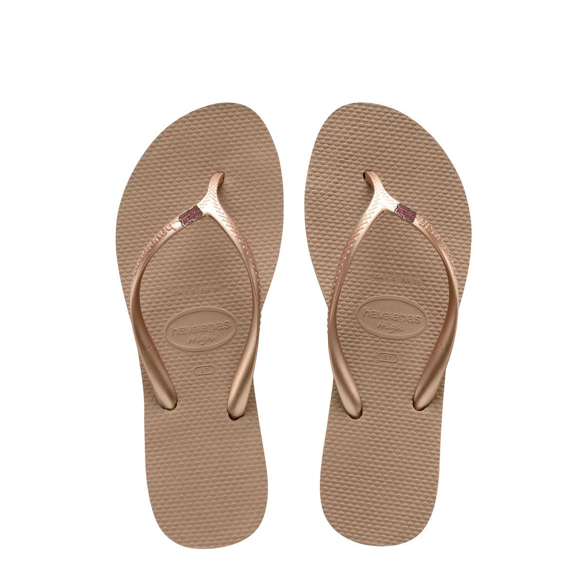 Havaianas Heel Rose Gold Flip-Flops Pink Glitter Mother of the Groom