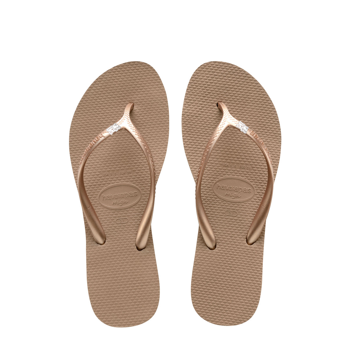 Havaianas Heel Rose Gold Flip-Flops Silver Mother of the Groom
