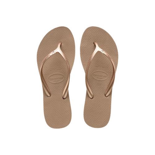 Havaianas Heel Rose Gold Flip-Flops with Heart Wedding Personalised