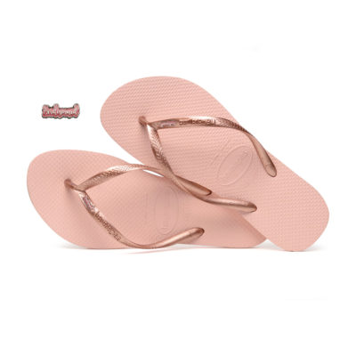 Havaianas Ballet Rose Pink Glitter Bridesmaid Wedding Flip Flops