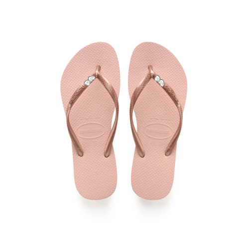 Double Heart Silver Charm Havaianas Ballet Rose Wedding Personalised