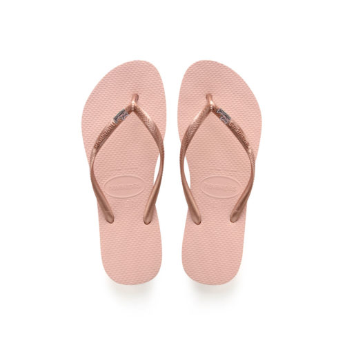 Havaianas Ballet Rose Flip Flops with Pink Glitter Just Married Charm