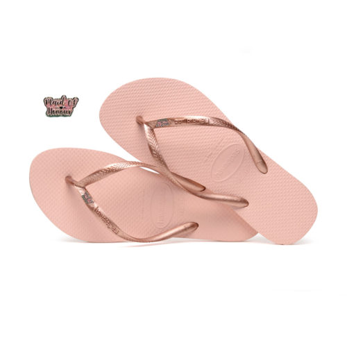 Havaianas Ballet Rose Flip Flops with Pink Glitter Maid of Honour Wedding