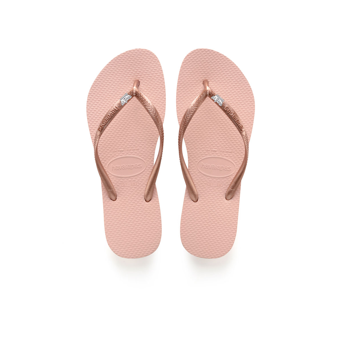 Havaianas Ballet Rose Flip Flops with Silver & White Maid of Honour Pin