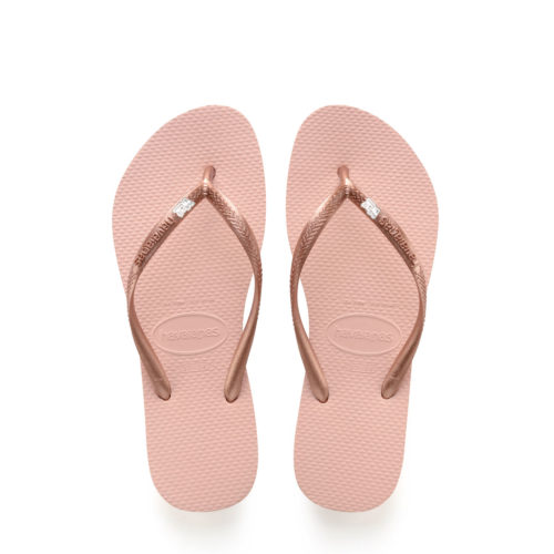 Havaianas Ballet Rose Flip Flops with Silver Mother of the Groom Pin