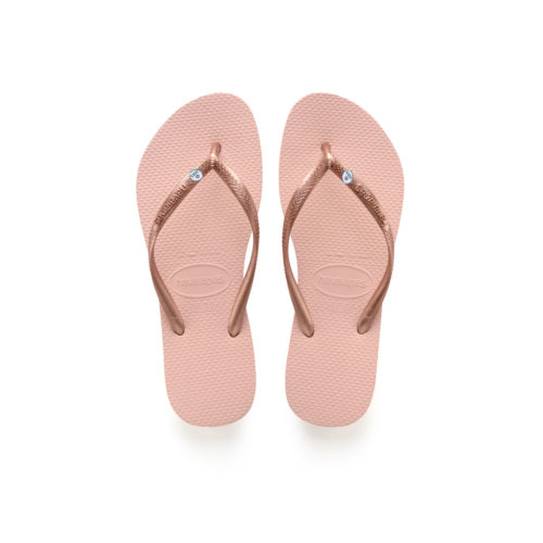 Havaianas Ballet Rose Flip Flops with Silver Mrs and Mrs Wedding Gift