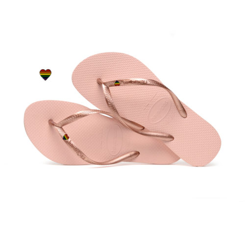 Pride Charm Havaianas Ballet Rose Wedding Personalised Flip Flops