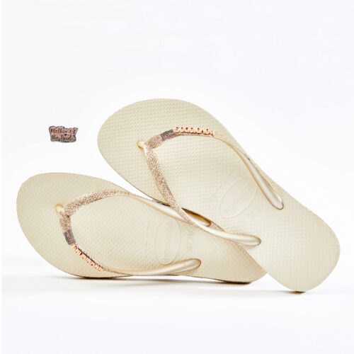 Pink Glitter Mother of the Bride Havaianas Beige Sparkle Wedding