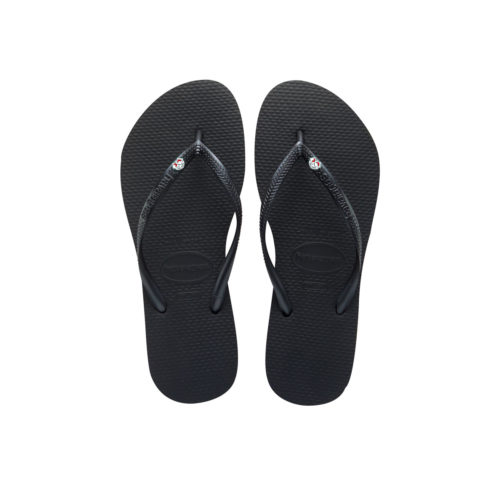 Havaianas Slim Black Flip-Flops with Hen Do Charm Wedding