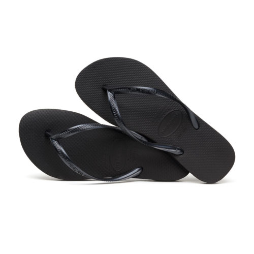 Havaianas Slim Black Flip Flops Sandals Gift Present