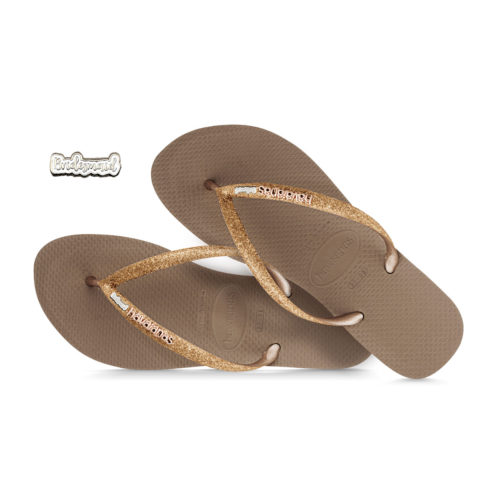 havaianas slim rose gold glitter silver and white bridesmaid
