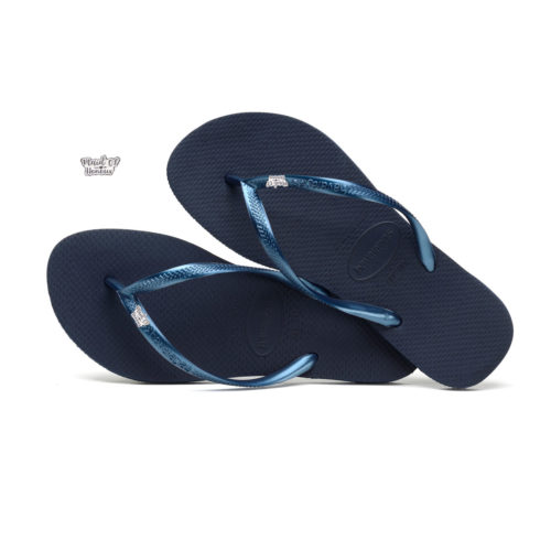 Havaianas Navy Flip Flops with Silver Maid of Honour Wedding Charm