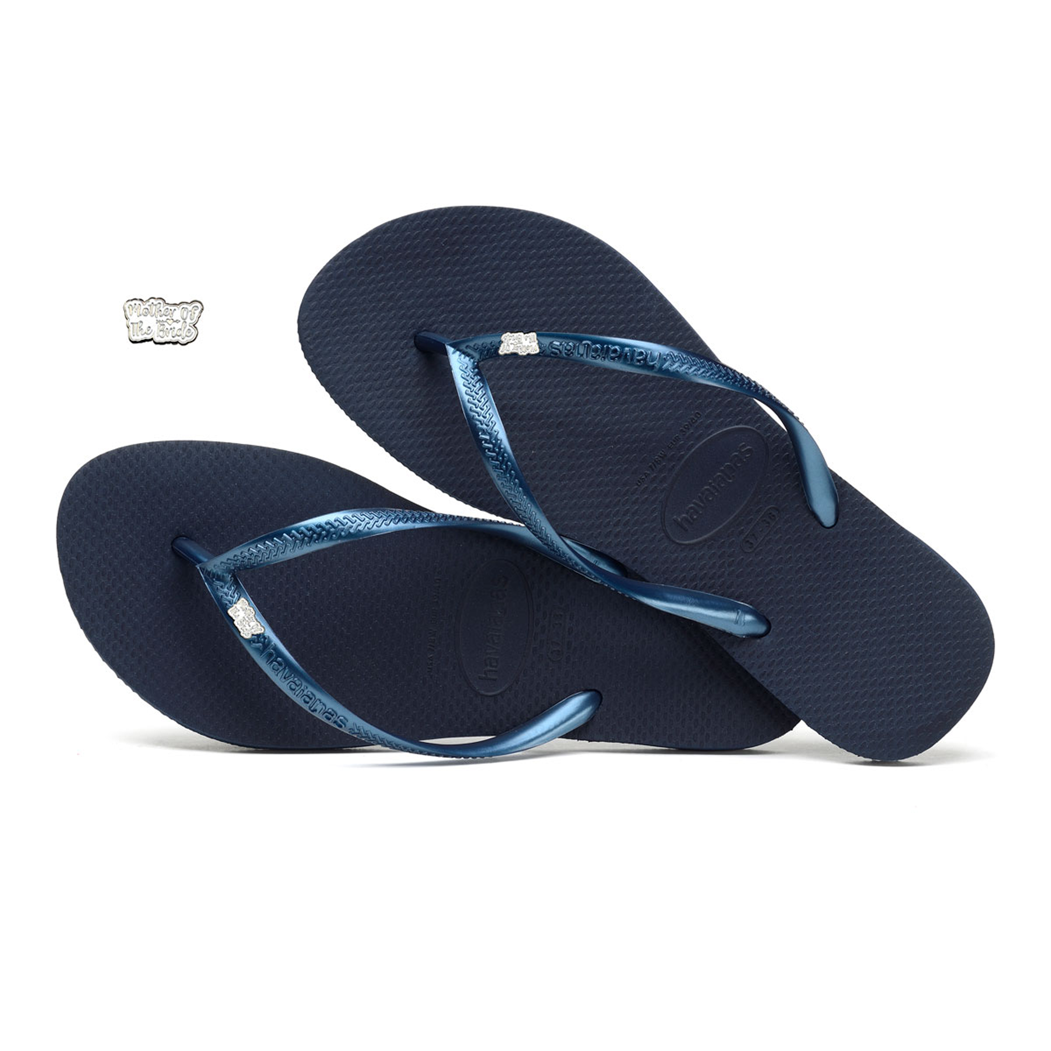 Silver Of Navy Havaianas The Bride White Slim Mother And Charm y0O8vmNnw