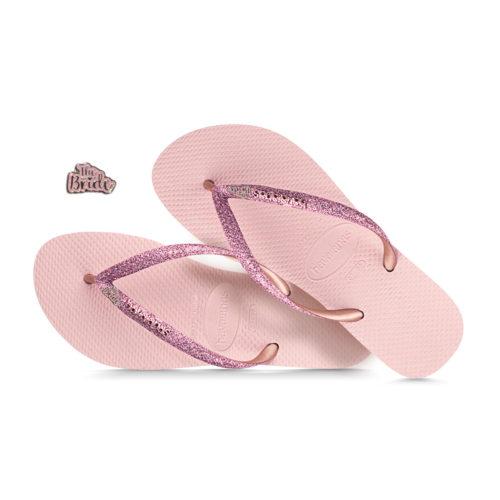 The Bride Pink Glitter Havaianas Ballet Rose Glitter Wedding Havaianas