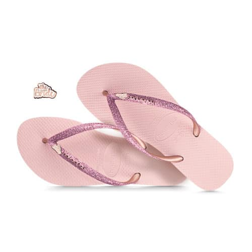 The Bride Rose Gold Havaianas Ballet Rose Glitter Wedding Havaianas