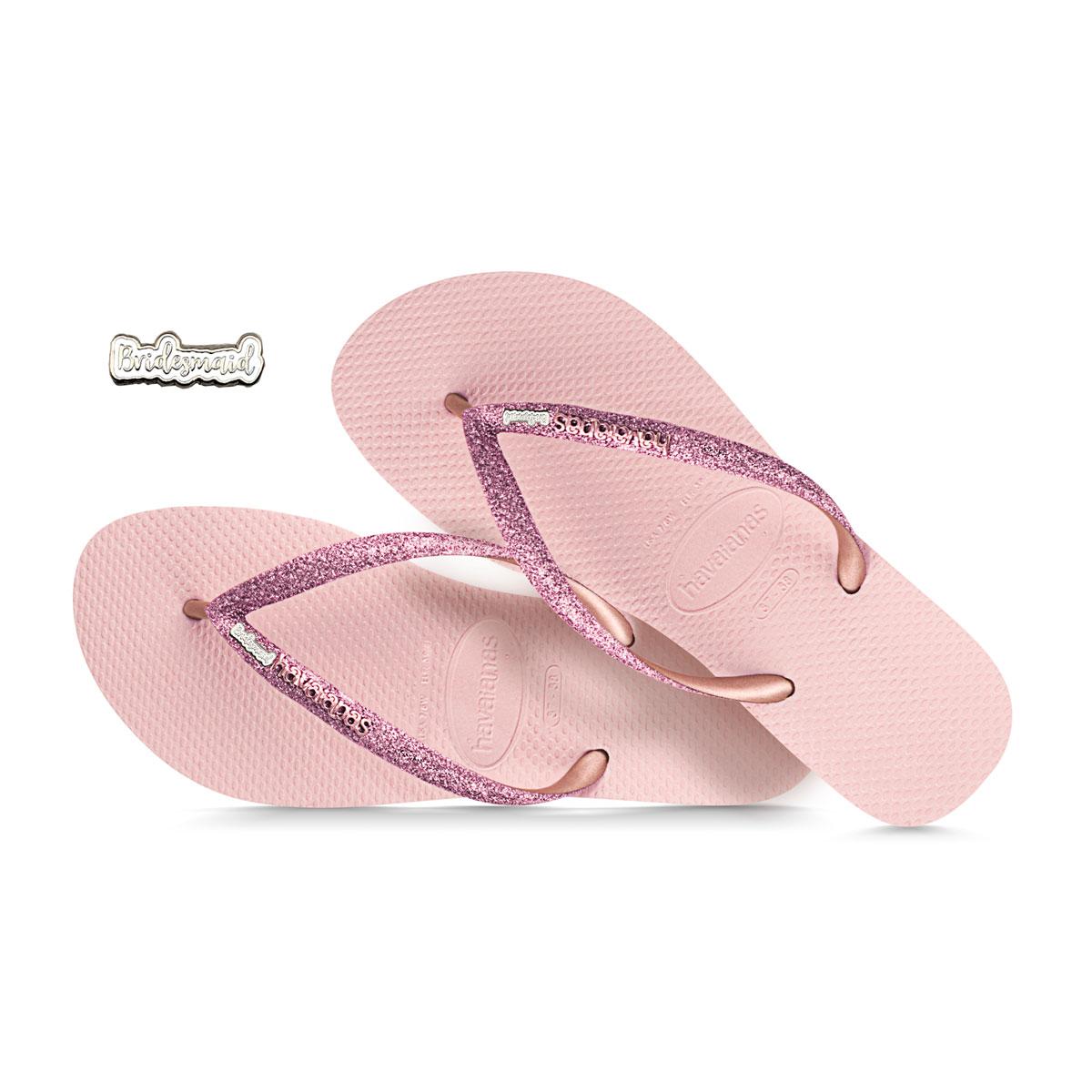 havaianas ballet rose glitter