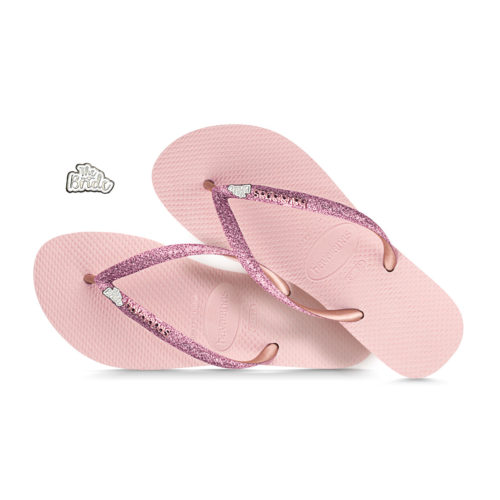 havaianas slim ballet rose glitter the bride white and silver