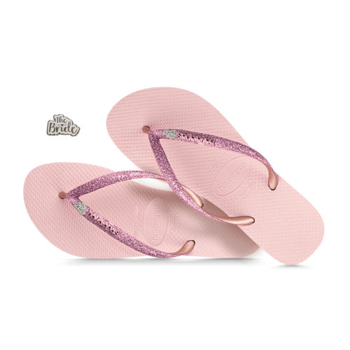 The Bride White Glitter Havaianas Ballet Rose Glitter Wedding Havaianas