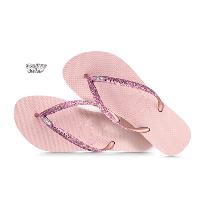 Silver Maid of Honour Havaianas Ballet Rose Glitter Wedding