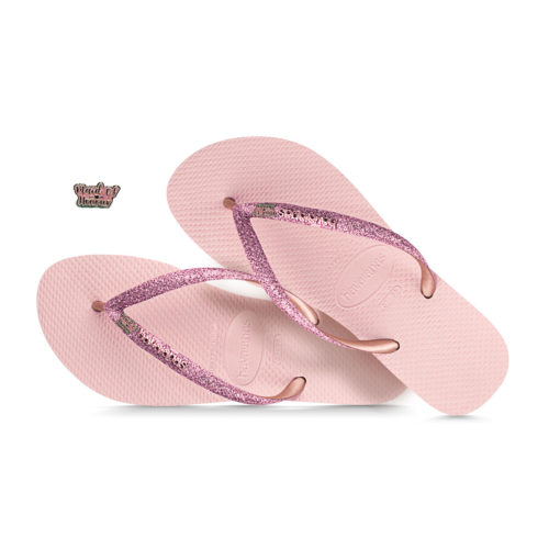 Silver Pink Glitter Maid of Honour Havaianas Ballet Rose Glitter Wedding