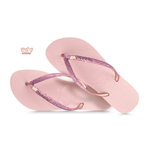havaianas slim ballet rose glitter silver rose gold maid of honour