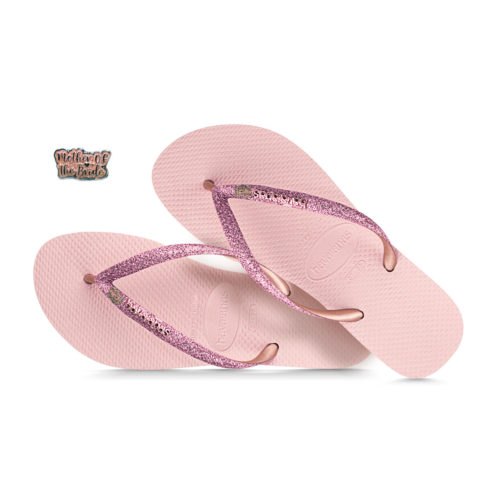 Pink Glitter Mother of the Bride Havaianas Ballet Rose Glitter Wedding