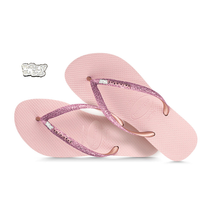 Silver Mother of the Bride Havaianas Ballet Rose Glitter Wedding