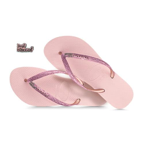 havaianas slim ballet rose glitter pink glitter just married