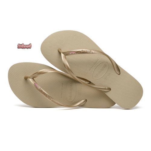 Havaianas Sand Grey Slim Flip-Flops with Pink Bridesmaid Wedding Gift