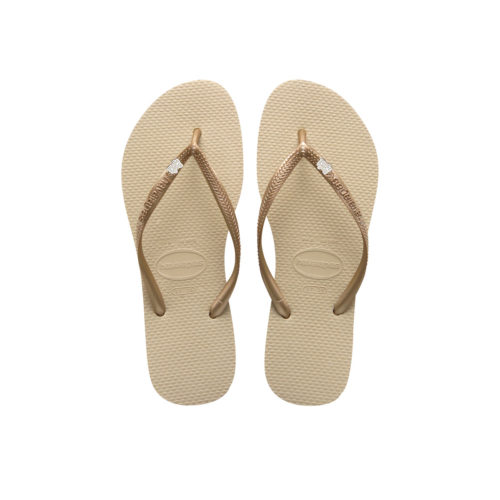 Havaianas Sand Grey Flip Flops with Silver Bride Squad Wedding Pin