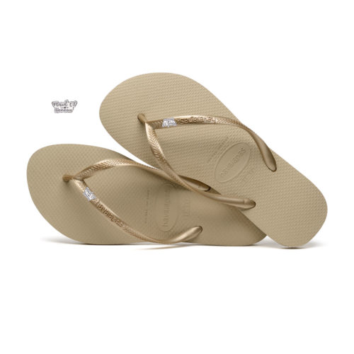 Havaianas Sand Grey Flip Flops with Silver White Mother of the Bride Pin