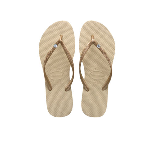 Havaianas Sand Grey Flip Flops with Silver Mr & Mrs Wedding Charm