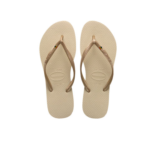 Havaianas Sand Grey Slim Flip-Flops with Pride Charm Wedding Gift
