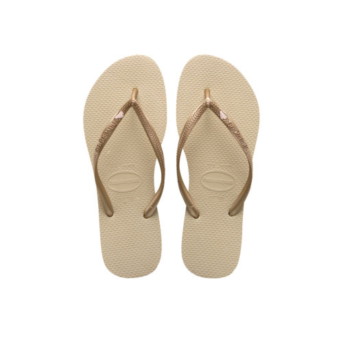 Rose Gold 'The Bride' Havaianas Slim Sand Grey Wedding Flip Flops